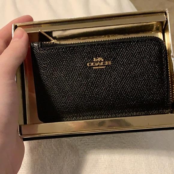 Coach card case (new in box)
